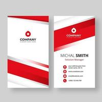 Vertical business card template with angle accents