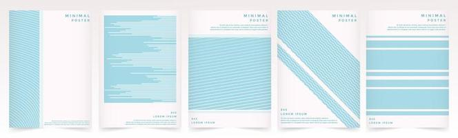 Soft Blue color pattern texture for book cover template set