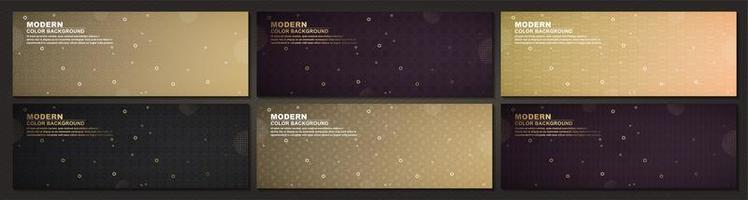 Luxury geometric banners set vector