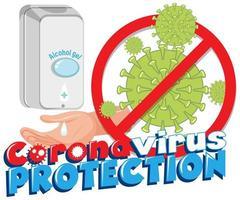 Coronavirus Protection Hand Sanitizer Poster  vector