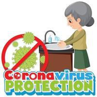 proteggere il poster delle mani di lavaggio del coronavirus vettore