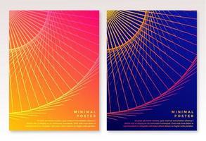 plantillas de folleto de diseño moderno vector