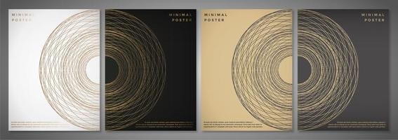 plantilla moderna para folleto folleto folleto conjunto vector