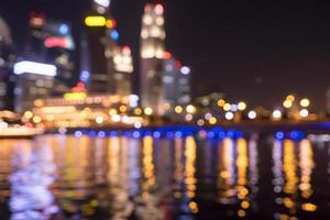 city night lights blurred bokeh photo