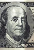 sluit omhoog van dollarrekening