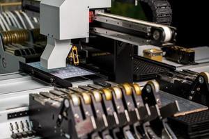 Modern machine for production of LED panels photo
