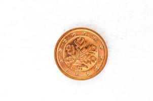 Moeda de 1 centavo de euro com parte traseira alemã usada