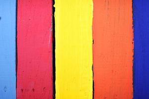 colorful wooden panels