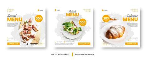banner menu cibo social media post design quadrato