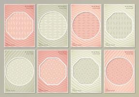 Abstract retro colored pattern textures for book covers vector