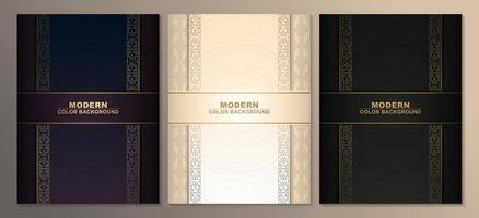 Premium golden cover template sets vector