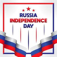 Happy Russia Day greeting card vector