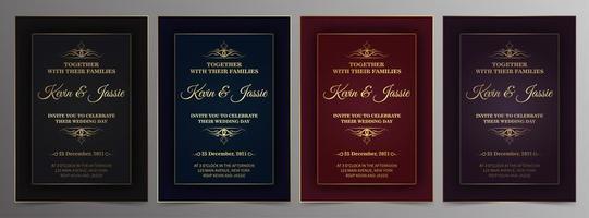 luxe vintage gouden uitnodigingskaartsjablonen