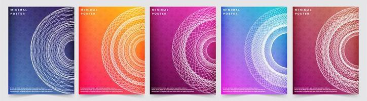 Abstract colorful minimal covers pattern designs vector