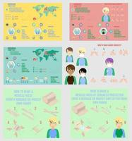 conjunto de infografías de coronavirus vector