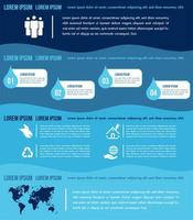 Water infographics elements template with charts vector