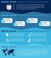 Plantilla de elementos de infografías de agua con gráficos vector