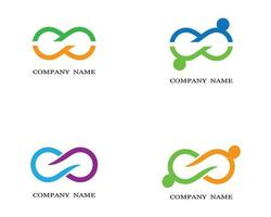 Green, Orange, Blue, Purple Infinity Logos vector
