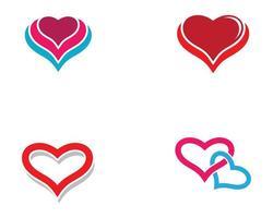 conjunto de logotipo de coração de amor