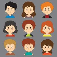 Collection of Avatar Characters With Different  Hair and Skin