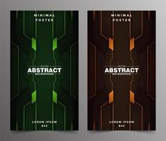 Luxury abstract tech minimal covers design