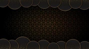 Black and Gold circular abstract background