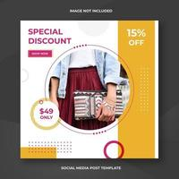 Fashion social media square banner template