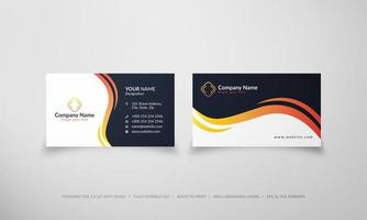 Abstract creative wave business card