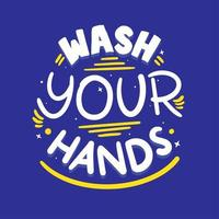 Yellow and Blue Wash your hands