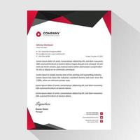 Red Black Business Letterhead Template