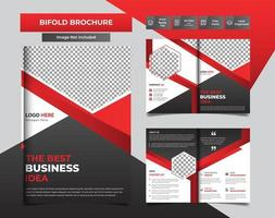 Red Modern business bi-fold