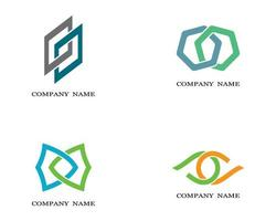 logotipos corporativos multicolores vector