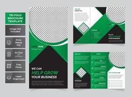 Modern business tri-fold brochure