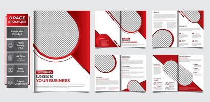 Circular multipurpose template pages  vector