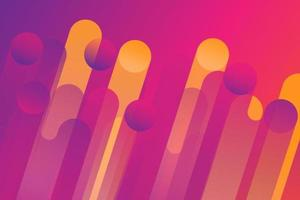 Pink and yellow gradient dynamic angled line design