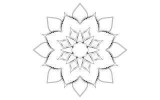 Minimalist circular flower mandala pattern  vector