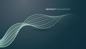 Technology Background with Curved Lines vector