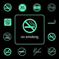 No smoking icon set  vector