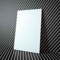 Blank white frame on the abstract background photo