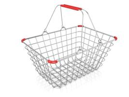 Steel wire shopping basket