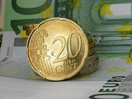 twenty euro cent coin photo