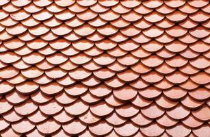 techo de tejas rojas foto