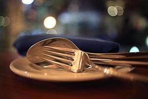 comida en el restaurante, mesa, fondo foto