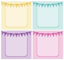 Plantilla de marco y banderas pastel con copyspace vector