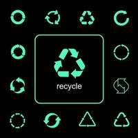 Multipurpose recycling icons set  vector