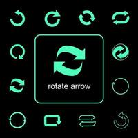 Rotating arrows icon set  vector