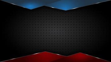superposición de bordes triangulares brillantes en textura de rejilla negra vector