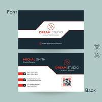 Business Card with Blue and White Angled Section