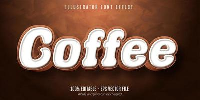 Coffee text font effect