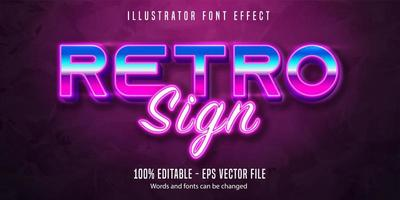 Retro sign text effect  vector